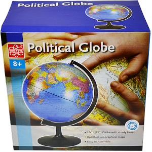 11 inch Desktop Political Globe Elenco EDU36899